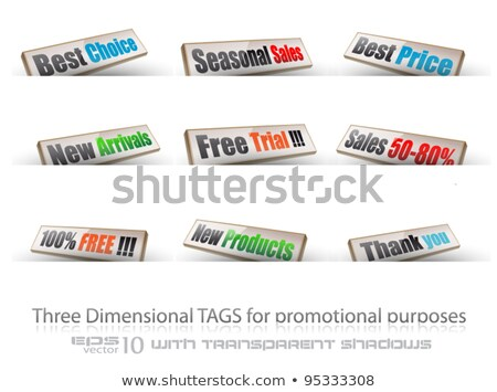 threedimentional panels for products promotion Stock photo © DavidArts