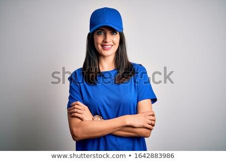 Vrouw cap natuur vrouwen weide hout Stockfoto © fotorobs