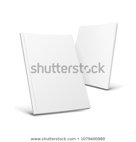 dois · livros · isolado · branco · laranja - foto stock © TheProphet