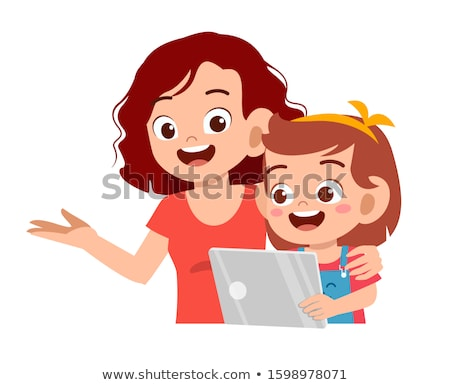 Parents fille portable ordinateur fille homme Photo stock © photography33
