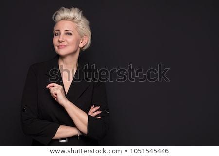 elegáns · szőke · szépség · közelkép · portré · lány - stock fotó © lithian