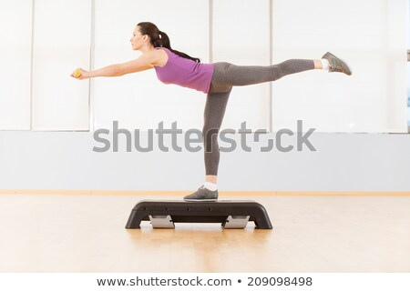 pretty step aerobics girl stock photo © mariematata