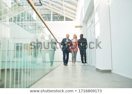 Corredor construcción comunicación piso arquitectura caminata Foto stock © njaj