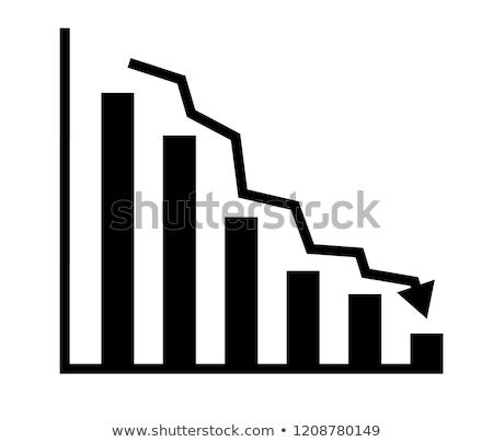 seta · para · baixo · depressão · teia · financeiro - foto stock © 4designersart