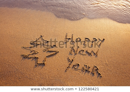 Happy new year 2012 message over blue background Stock photo © shutswis