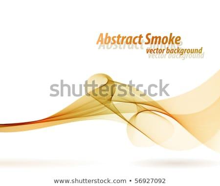 Laranja enfumaçado onda vetor branco cópia espaço Foto stock © lenapix