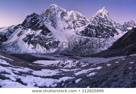 Cholatse Mountain Peak And Clouds Stok fotoğraf © Arsgera