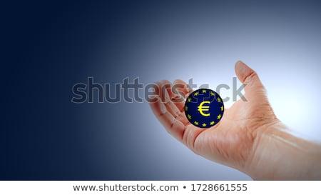 Mão sida 3D esfera branco Foto stock © kbuntu