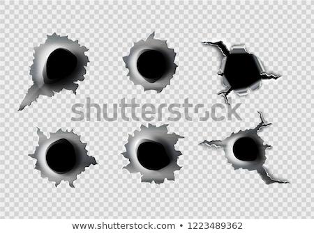 弾痕 · ガラス · テクスチャ · デザイン · 郡 · 黒 - ストックフォト © fixer00