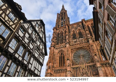 cathedral in Strasbourg closeup Stock photo © prill