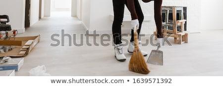 Habaró seprű tükröződés izolált fehér otthon Stock fotó © homydesign