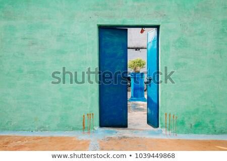 Puerta abierta indio pueblo así signo hinduismo Foto stock © ziprashantzi