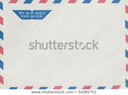 Eski hava posta zarf damga kapalı Stok fotoğraf © icefront