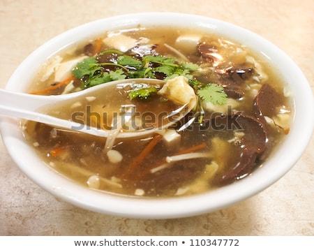 чаши суп Тофу креветок азиатских китайский Сток-фото © M-studio