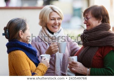 женщину · Кубок · горячей · кофе · великолепный · молодые - Сток-фото © lithian