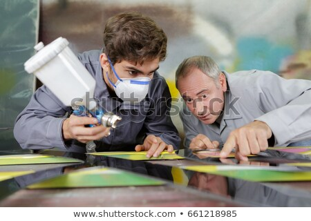 Decorator and apprentice Stock photo © photography33