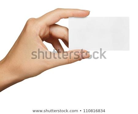 hand · visitekaartje · geïsoleerd · business · achtergrond - stockfoto © inxti