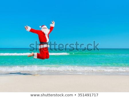 vuelo · turísticos · feliz · año · nuevo · vacaciones · gira - foto stock © motttive