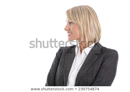 Attractive female looking sideways Stock photo © stockyimages