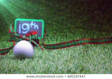golf · kulüp · top · spor · gün · batımı - stok fotoğraf © devon
