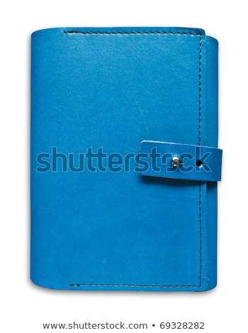 Blue Leather Case Notebook Isolated On White ストックフォト © Tungphoto