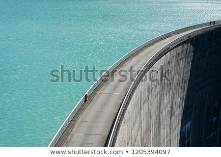 具体的な · 壁 · 建設 · 技術 · 山 · 湖 - ストックフォト © antonio-s
