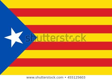 испанский флаг путешествия красный Сток-фото © arturasker