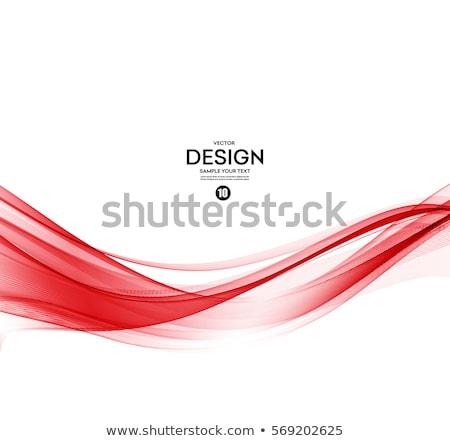 kırmızı · dalgalar · vektör · soyut · sanat · örnek - stok fotoğraf © robertosch