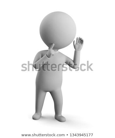 3d small people - secret Stock photo © AnatolyM