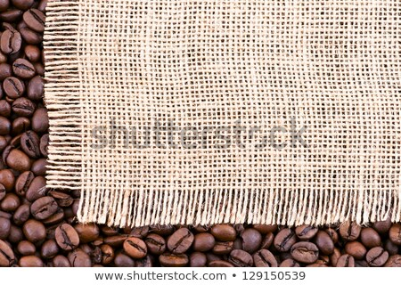 a bag of coffee beans tissue underneath stock photo © justinb