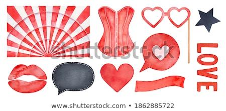 cabaret blond in corset Stock photo © dolgachov