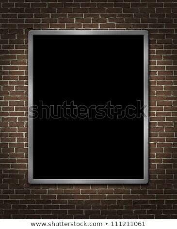 кирпичная стена Billboard металл плакат реклама маркетинга Сток-фото © Lightsource