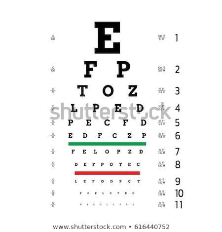 Oog grafiek visie medische optometrist symbool Stockfoto © Lightsource