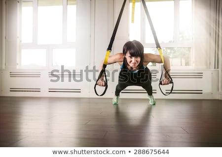 állóképesség rugalmasság erő fitnessz képzés célok Stock fotó © PixelsAway