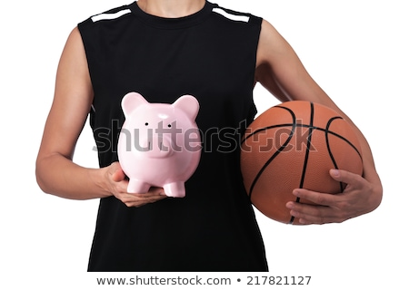 spaarvarken · basketbal · sport - stockfoto © devon