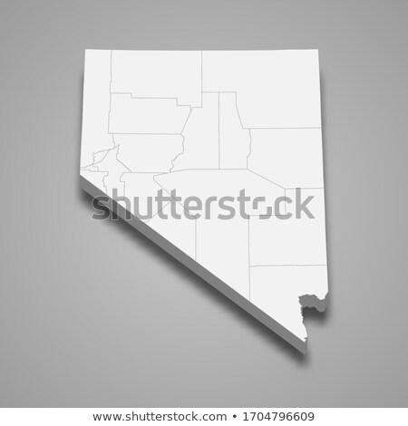 Nevada · zászló · Egyesült · Államok · Amerika · 3D · izometrikus - stock fotó © cteconsulting