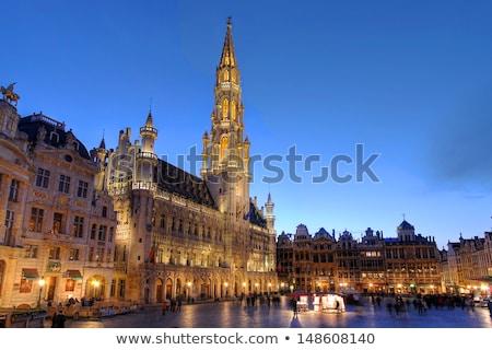 ブリュッセル · 市 · ホール · ホテル · 場所 · ベルギー - ストックフォト © chrisdorney