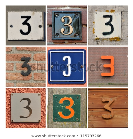Number of three on a house Stock photo © zzve