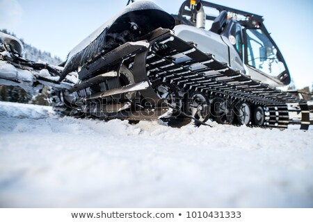 snowcat track close up stock photo © macsim