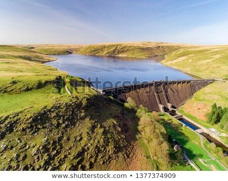 водохранилище Панорама долины Уэльс небе воды Сток-фото © latent