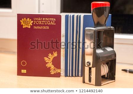 Portuguese biometric passport Stock photo © kuligssen