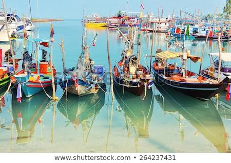 漁師 · ボート · 伝統的な · インドネシアの · 漁船 · バリ - ストックフォト © joyr