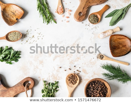 various spices on a wooden background stock photo © zerbor