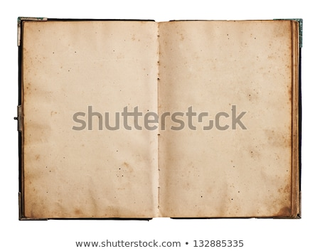 open old blank book with clipping path stock photo © sqback