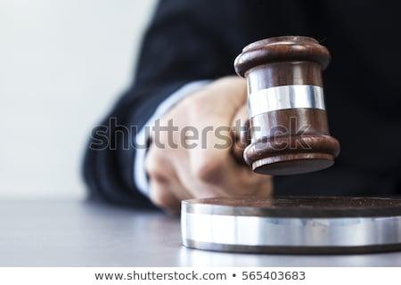 Tokmak beyaz toplantı mahkeme nesne Stok fotoğraf © RomanenkoAlex