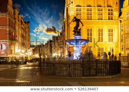 gdansk at night poland stock photo © sqback