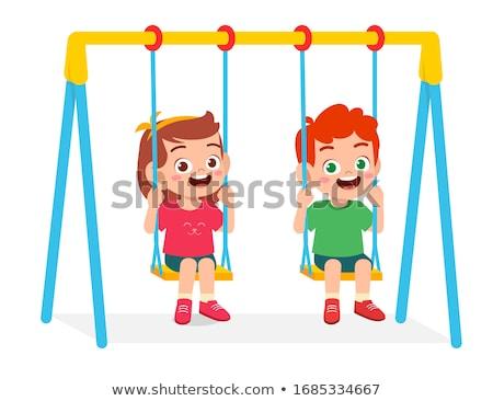 vuota · catena · swing · parco · giochi · foglie - foto d'archivio © stevanovicigor