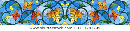 Abstract najaar swirl golvend lay-out aarde Stockfoto © ArenaCreative
