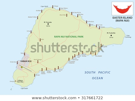 Bayrak Paskalya Adası Şili örnek harita dünya Stok fotoğraf © flogel