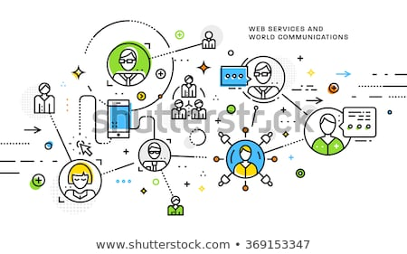 Optimizing Communications. Business Concept. Stock photo © tashatuvango